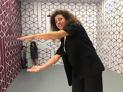 Wait? Are we tiny? - Ames Room, Museum of Illusions Doha
