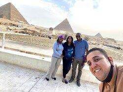 Giza pyramids visit with Abdalla!
