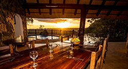 Sunset view from dining area