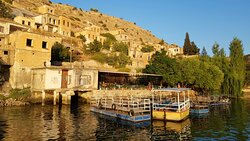 Legendary places. Cruise on the Euphrates River. It is a cheap one and you can serve a good, clean and affordable lunch or dinner on the boat. The only place in the world where the black rose (Karagül) is grown, is Halfeti. Bring with you at home a piece of Mesopotamia, buying a Black Rose perfume from Halfeti Bazar.  Halfeti (Birecik) is also the home place of Bald Ibises, a species saved from extinction by locals.