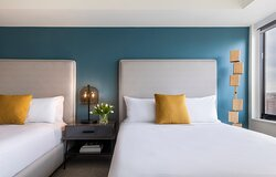 Madera Queen Queen St Barts Blue Between Bed View