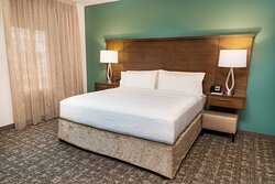 Sleep well in our king-sized bed.