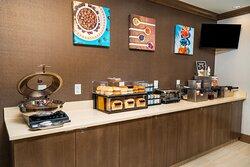 Enjoy our complimentary breakfast buffet.