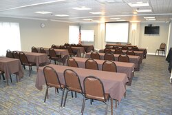 Our meeting room has complimentary Wifi access, video screen & TV