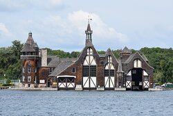 Boldt Castle Boathouse. 32 miles distance from hotel.