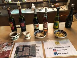 The wines on tasting at the gorgeous Elan cellar door in Balnarring.