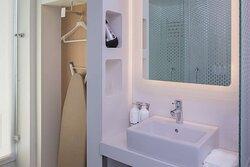Premium sink and open wardrobe