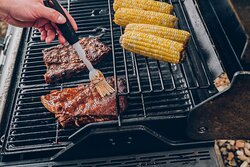 Grill your dinner on our free gas grills in the Candlewood Gazebo