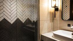 Spa inspired bathrooms at Hotel Indigo