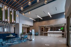 Spacious welcoming lobby with all cleanliness protocols in place