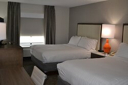 Newly renovated and freshly appointed double queen guest room.