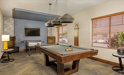 Game Room with a Pool Table and Foosball