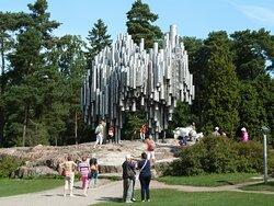 Sibeliusmonumentet i Sibelius Park i Helsingfors
