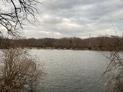 View of Trail Bridge across Fox River