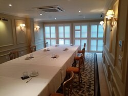 Tack & Forge private suite, great for corporate settings, family dinners, baby showers or funeral wakes.