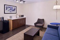 Suite Separate Living Room Area & Sleeper Sofa