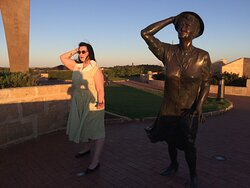 Stand next to the statue of the lady waiting for Any surviving sailors and imagine her thoughts