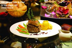 Our Australian Tenderloin Rossini, with French Foie Gras. Perfect for Red wine pairing