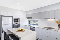 Interior view of kitchen in Two Bedroom Suite