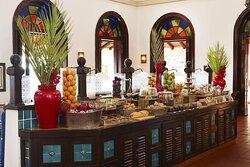 Breakfast buffet at Quirimbas Restaurant at Avani Pembe Beach Hotel