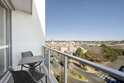 Private balcony with views of the city