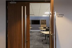 Entry into the Cortina conference room