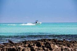 Fishing boat out at sea