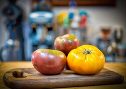Late summer delight! Heirloom tomatoes ready for the perfect BLT.