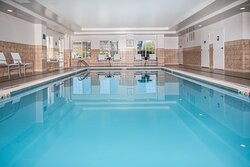 Our indoor pool is warm and welcoming for you to enjoy.