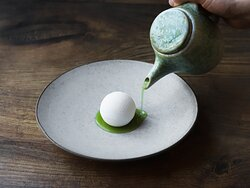 Cucumber and goat cheese.