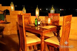 Enjoy a hearty traditional Rajasthani cuisine at The Chandrangan - Fort View Roof Top Restaurant.