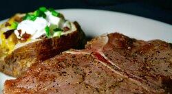 Certified Angus Beef® T-bone steak & Loaded Potato