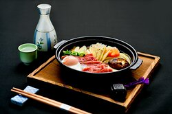 Suki Ni Bolined Sukiyaki Style dish