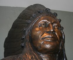Statue of Chief Washakie in the Museum