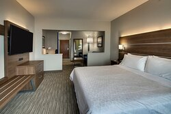 A place to sleep and place to kick your feet up in our King suite