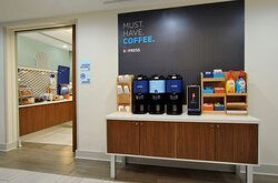 Did you say coffee? Don't forget to take a complimentary cup to go