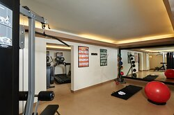 Bring your workout shoes hotel boasts an array of gym equipment