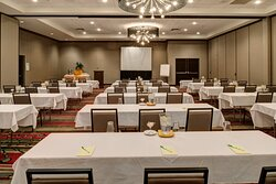 Classroom style meetings in our ballroom fit any group or meeting