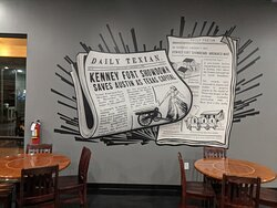 Daily Texian News Paper painting on the wall of The Kenney Fort Pub.