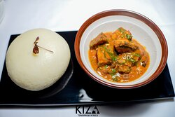 Ogbono Stew Ground mango seed stew with your choice of protein [stew base contains cray fish] [Allergens - Seafood]