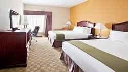 """Spacious guestrooms feature a microfridge, microwave and 37"""" TV"""