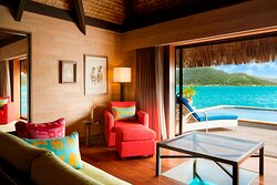 Royal Overwater Otemanu Villa with Pool - Living Area