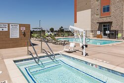 Take a dip in our outdoor pool and hot tub.