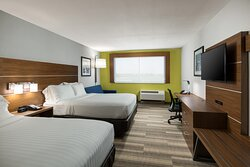 Enjoy the extra room this suite has with 2 queen beds and sofa bed