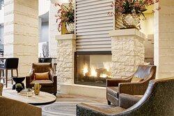 Archer Hotel Austin Lobby Fireplace Detail