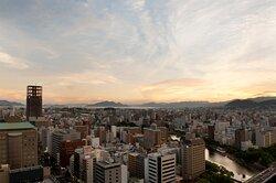 Twilight overlooking Miyajima, a world heritage site
