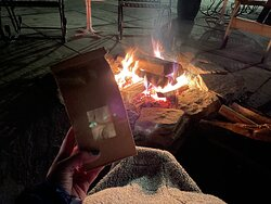 There were firepits lit every night, with complimentary s'mores kits available!