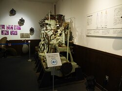 展示の採炭設備