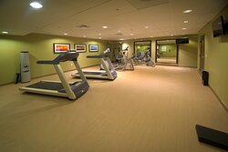 24 hour fitness center allows you to keep up your fitness routine.