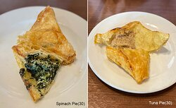 """""""Spinach, Tuna Pie"""" (30) -If you love to dine-in. Request them to warm it up. You'll get warm, flaky, buttery & creamy felling."""